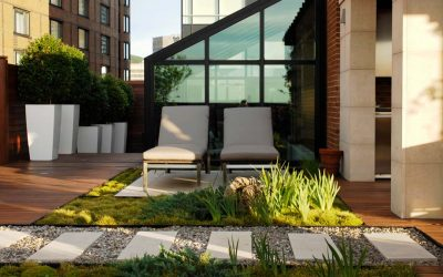 Tranquil Rooftop Living Space
